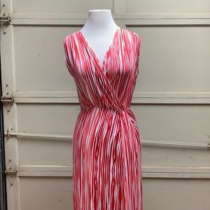 NWT Red and pink patterned maxi dress
